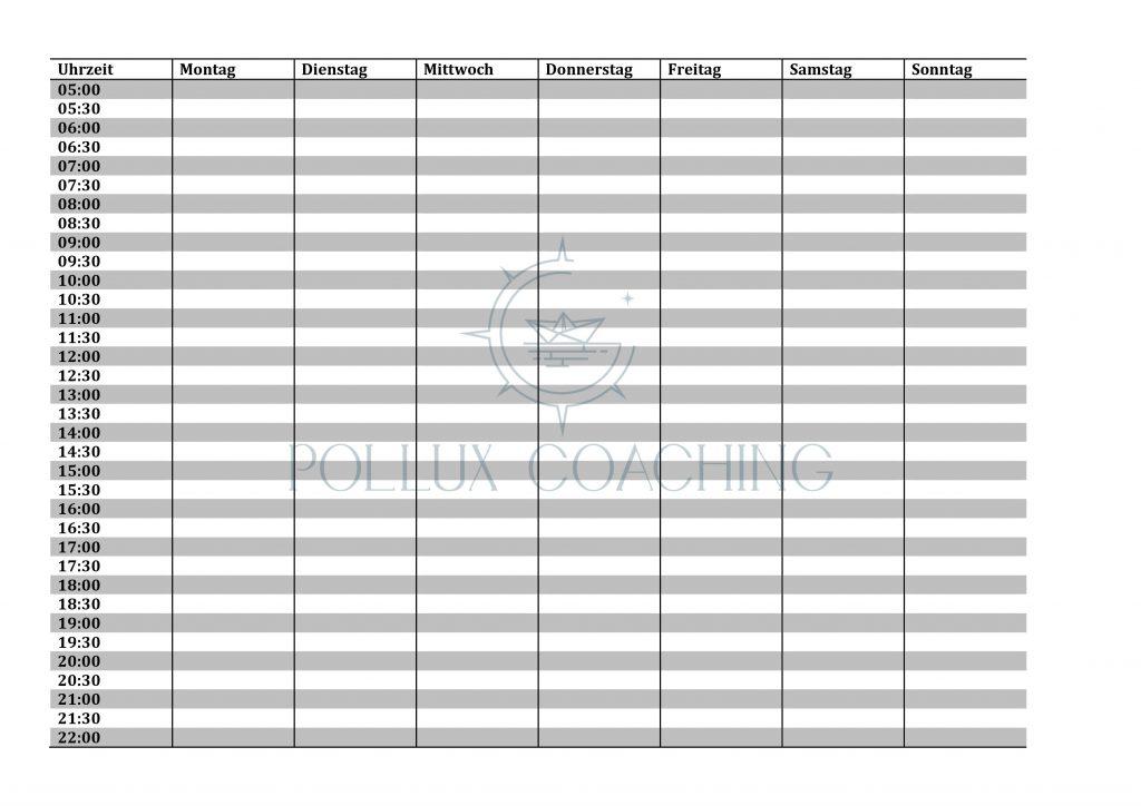Zeitmanagement Checklisten Wochenplan