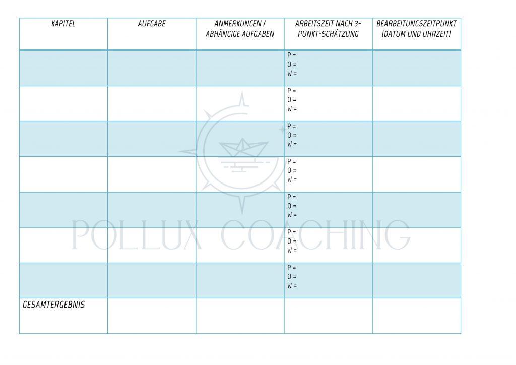 Zeitmanagement Checklisten - Zeitplan für Hausarbeiten