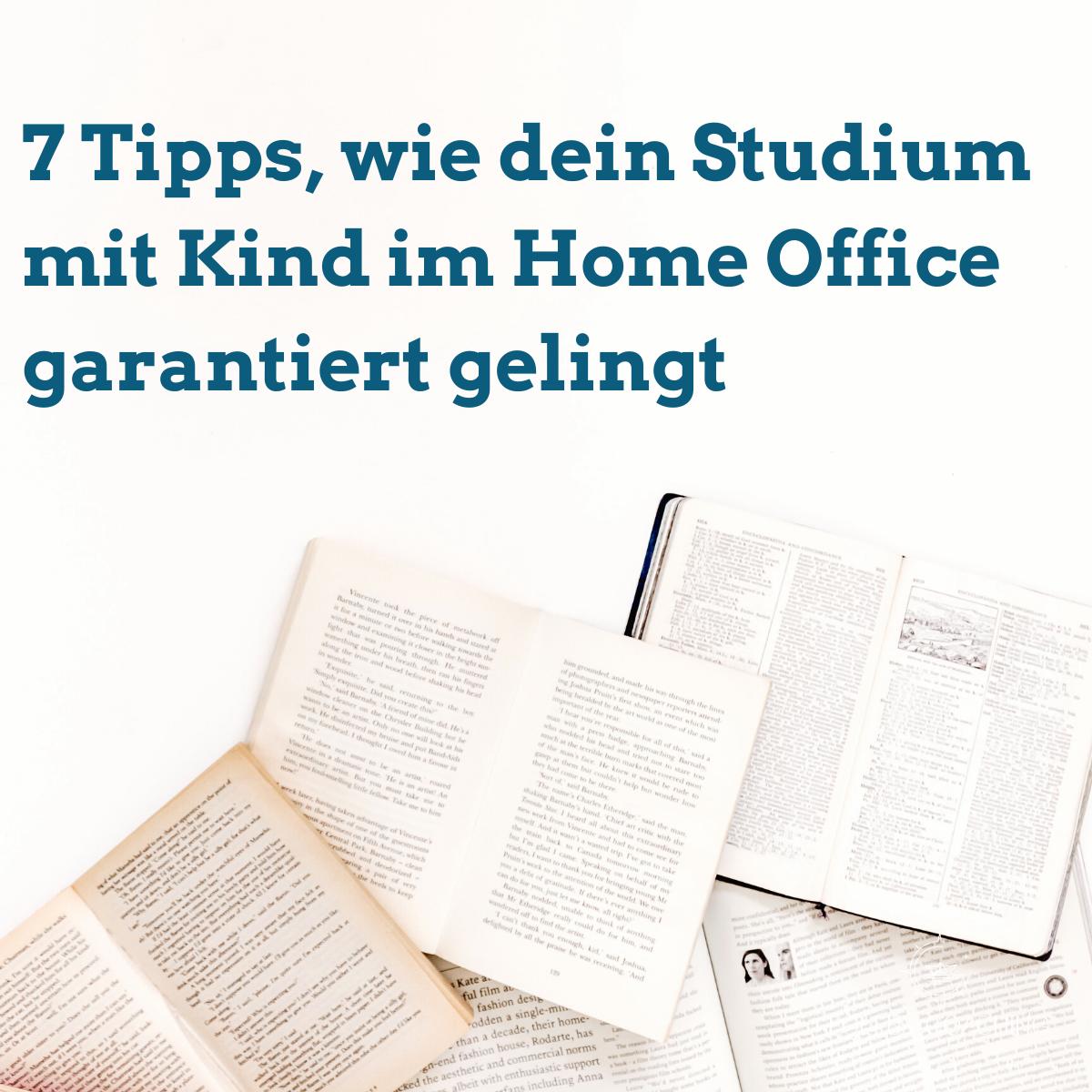 Lektüre im Studium mit Kind im Home Office