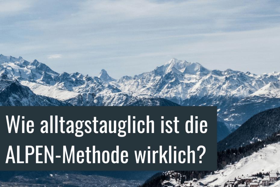 Berg mit Titel für Alpen-Methode